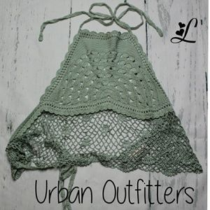 NWOT Urban Outfitters Mint Corchet Crop Top